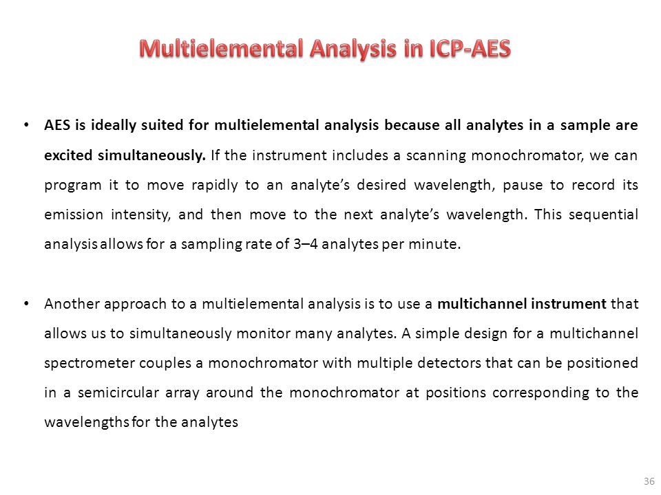 Multielemental Analysis in ICP-AES