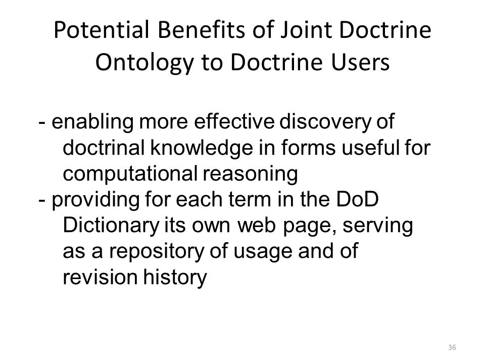 Joint Doctrine Ontology - ppt download
