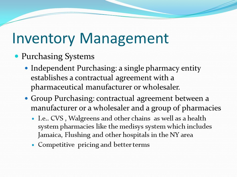 Inventory Management Purchasing Systems - ppt download