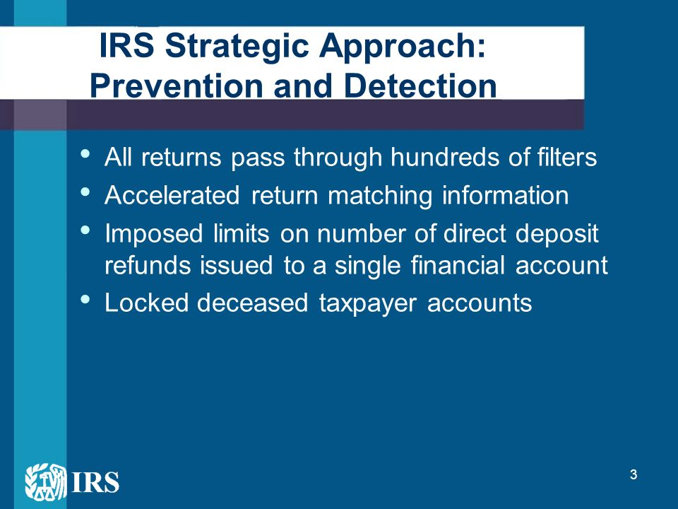 Preventing And Detecting Identity Theft Partnering With The Irs To