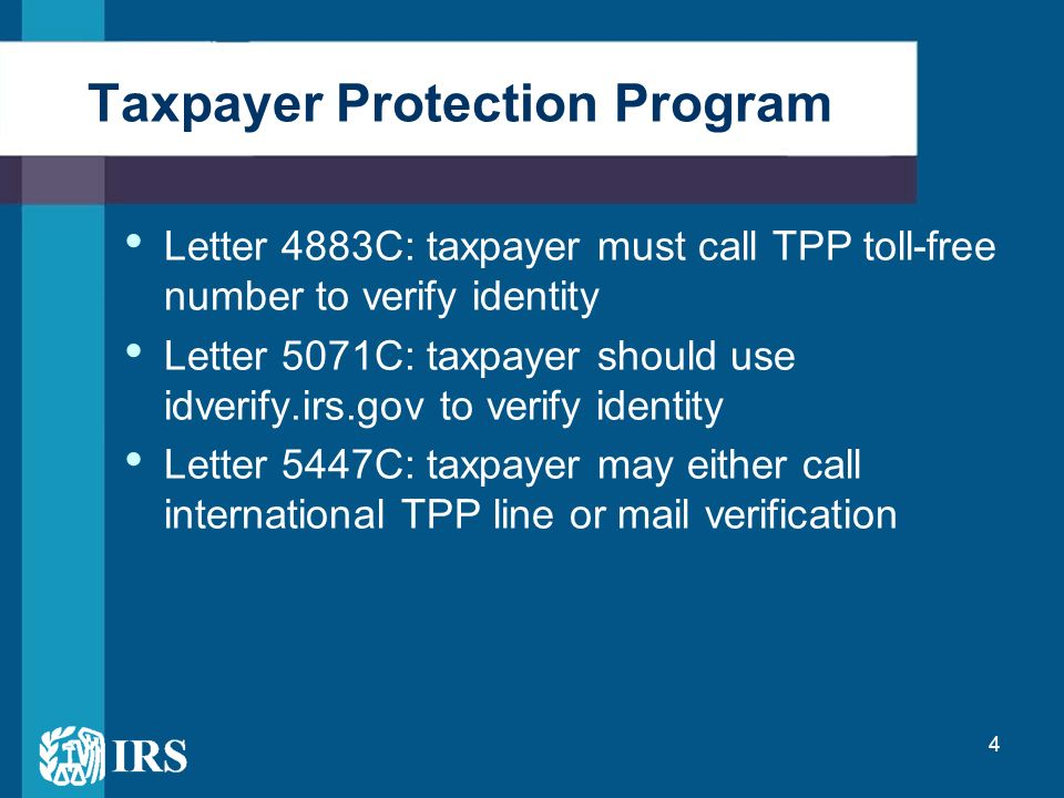 idverify irs gov letter 5071c preventing and detecting identity theft partnering with 22530 | Taxpayer Protection Program