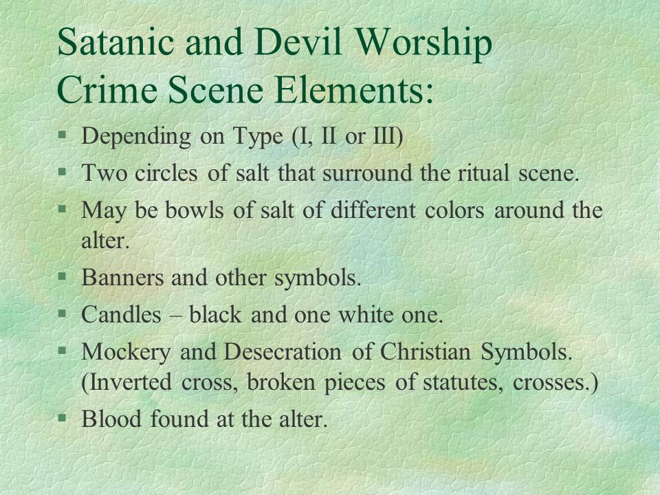 Satanic And Cult Related Murders Ppt Download
