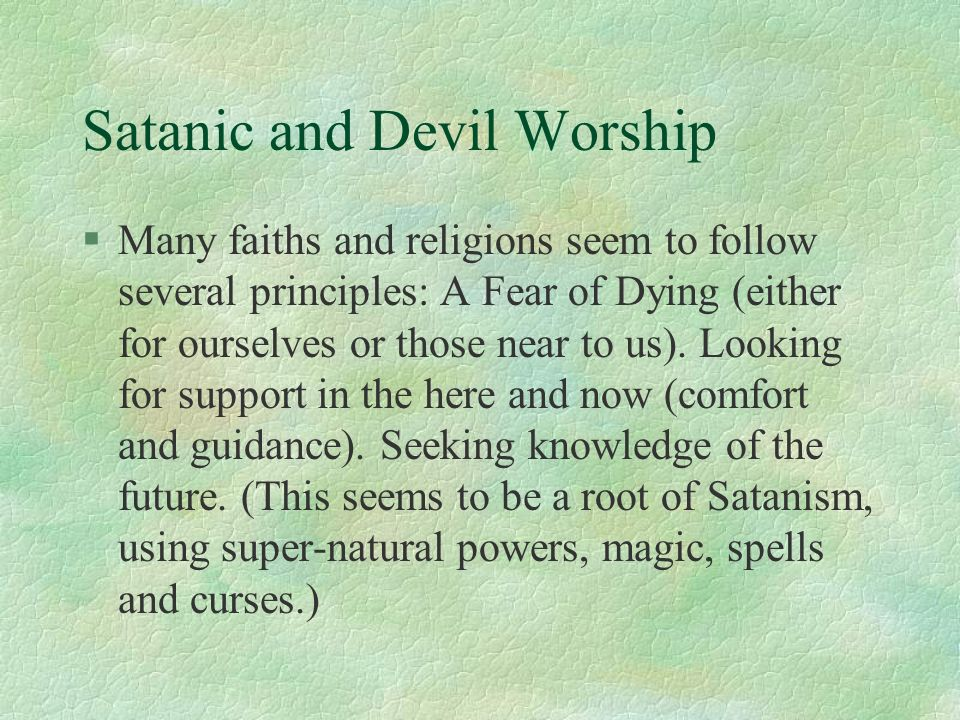 Satanic and Cult Related Murders - ppt download