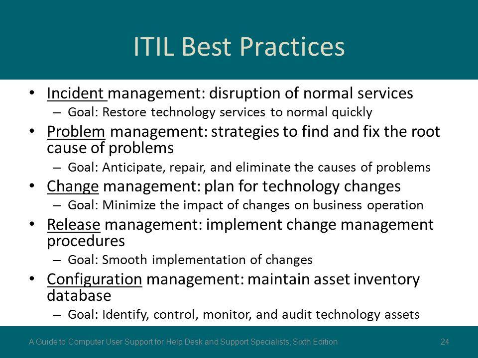 ITIL Best Practices Incident Management: Disruption Of Normal Services