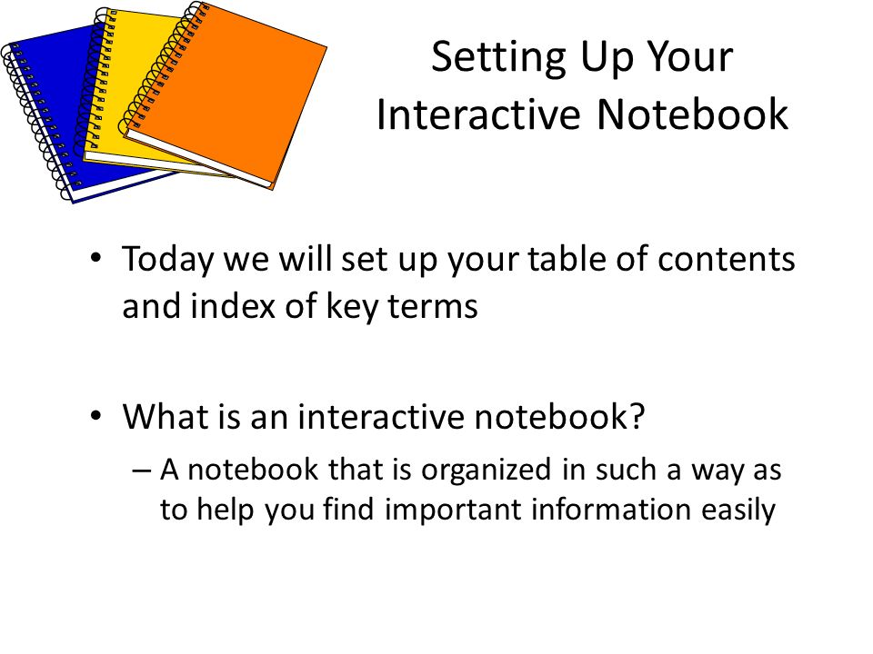 Setting Up Your Interactive Notebook - ppt download