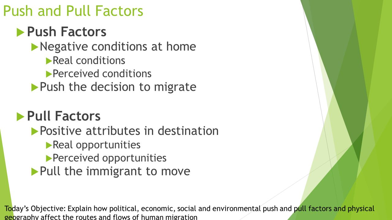 push and pull factors for tourism in switzerland After crompton (1979) proposed push and pull factors in order to examine the tourists' motivations for travelling to a particular destination elderly japanese tourists who travelled to thailand in his research, gaining knowledge was the most substantial push factors for this type of tourists.
