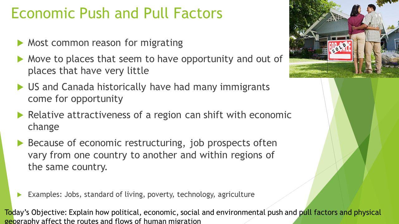 environmental push and pull factors examples
