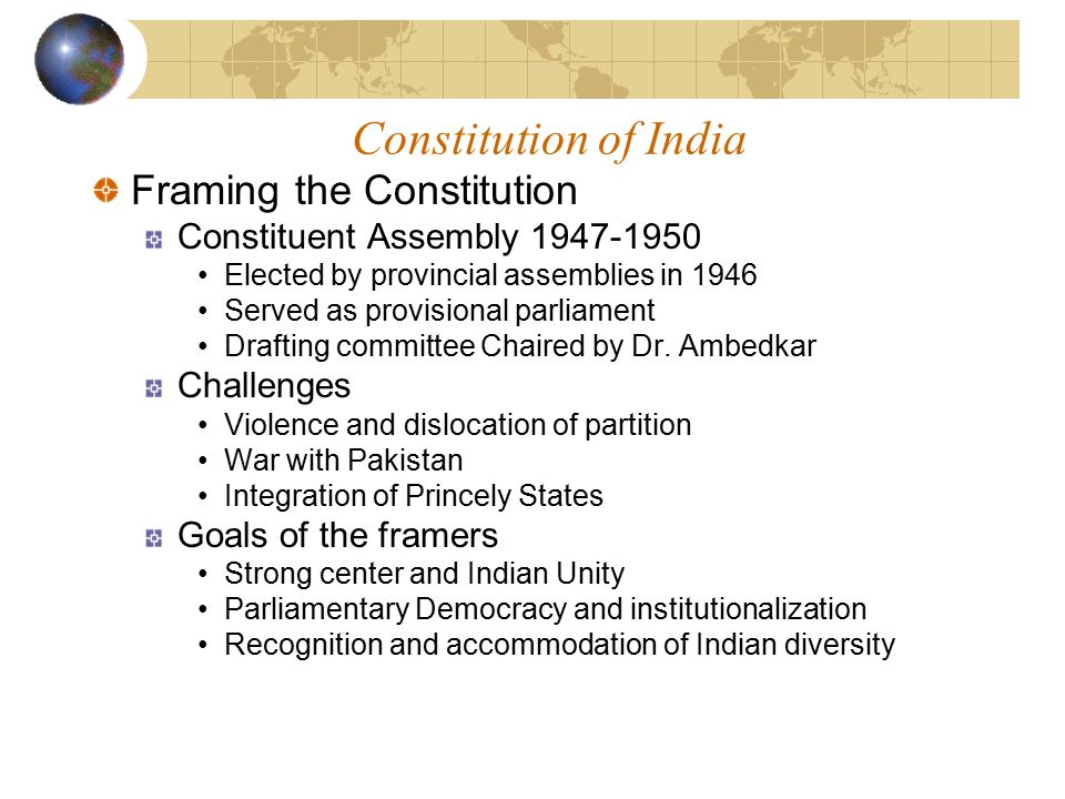 India: Institutions of Governance - ppt download