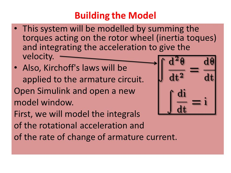 DC Motor Speed Modeling in Simulink - ppt video online download