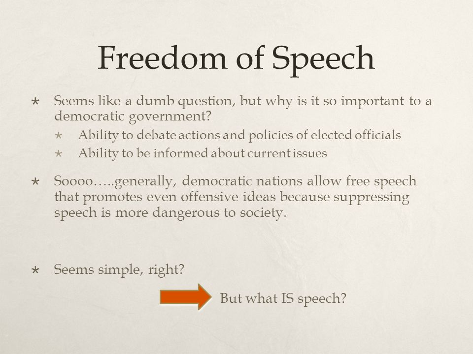 speech about society problems