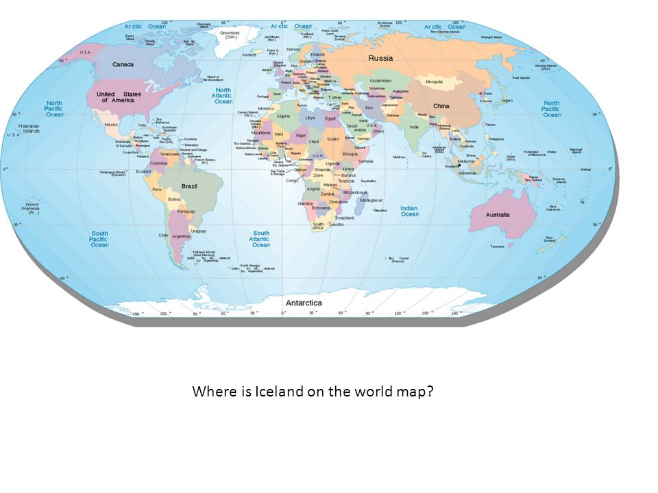 Iceland On A World Map Where is Iceland on the world map?   ppt video online download