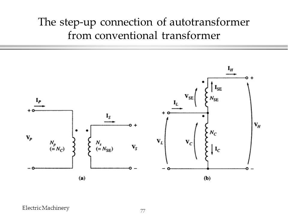 Chapter 2 transformers edit by chi shan yu electric machinery ppt the step up connection of autotransformer from conventional transformer publicscrutiny Images