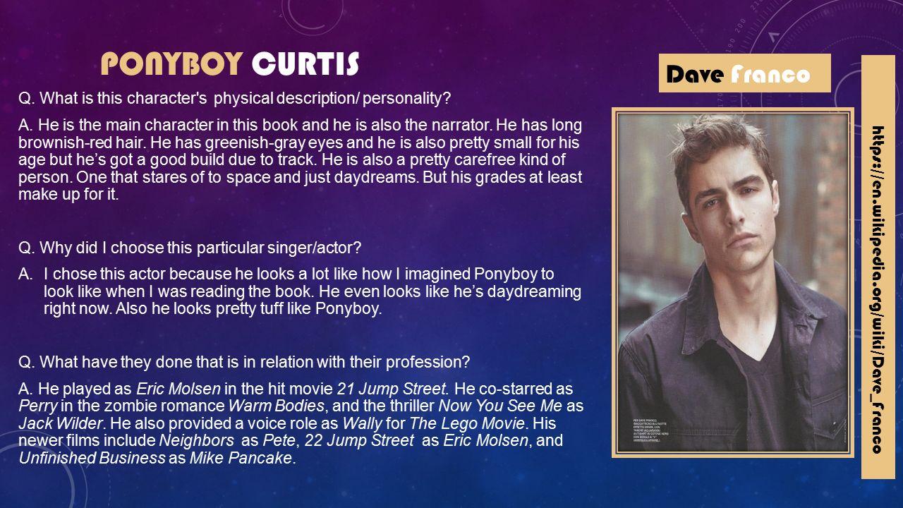 ponyboy curtis description