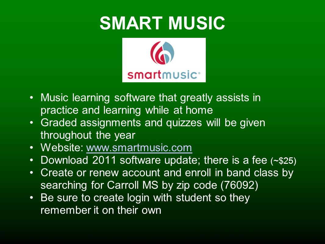 CARROLL MS BAND  - ppt video online download
