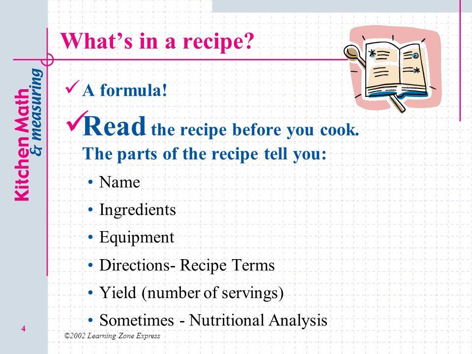 Recipe Skills. - ppt video online download