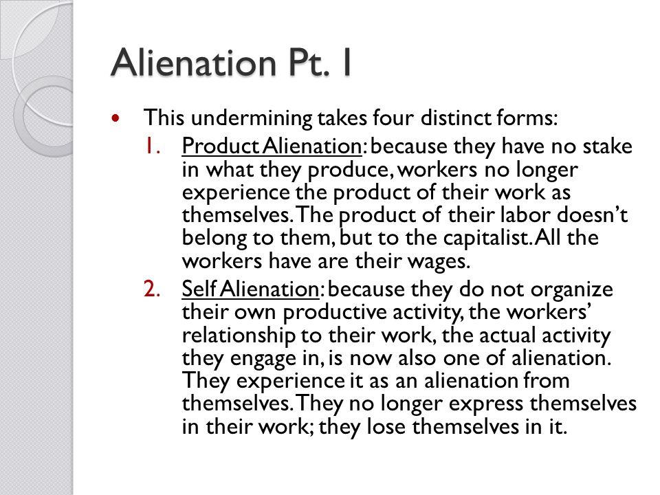 karl marx four types of alienation