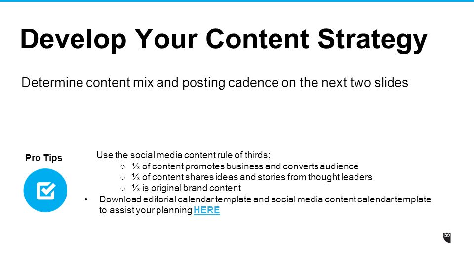 Social Media Strategy Template Ppt Video Online Download - Social media content strategy template