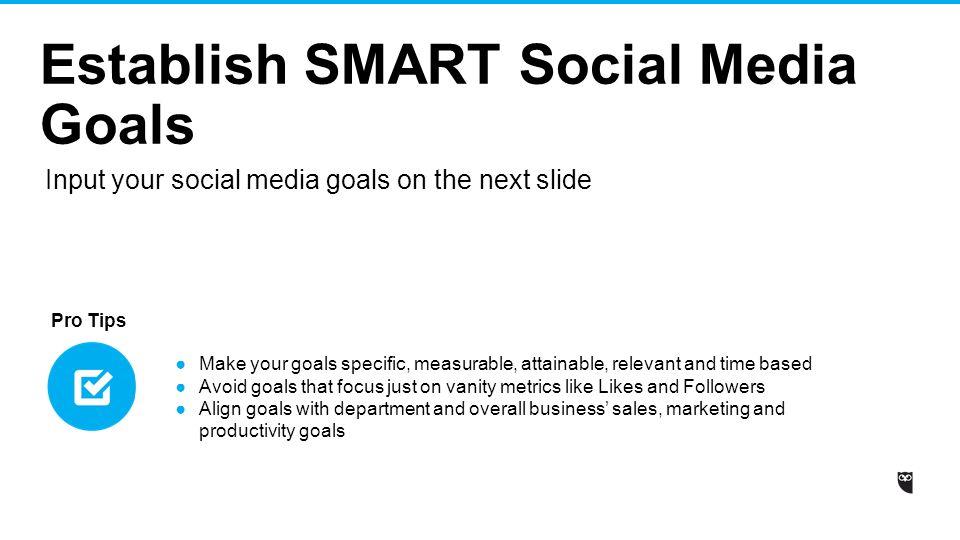 Social media strategy template ppt video online download establish smart social media goals flashek Image collections