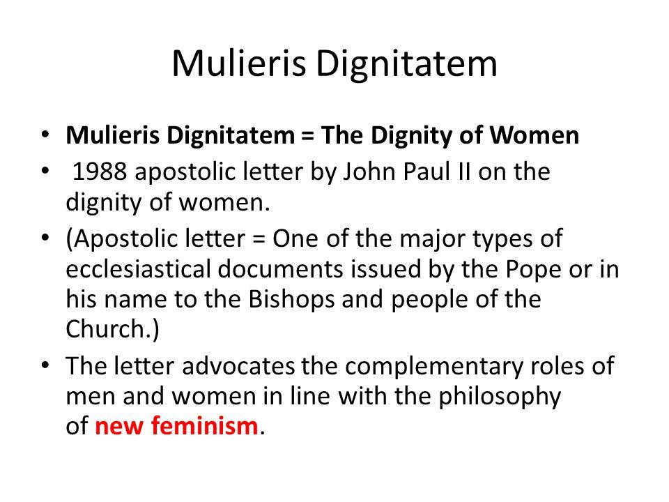 Mulieris dignitatem review.
