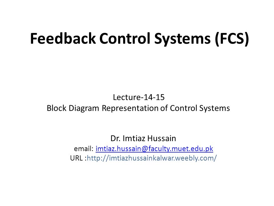 Feedback control systems fcs ppt download feedback control systems fcs ccuart Gallery