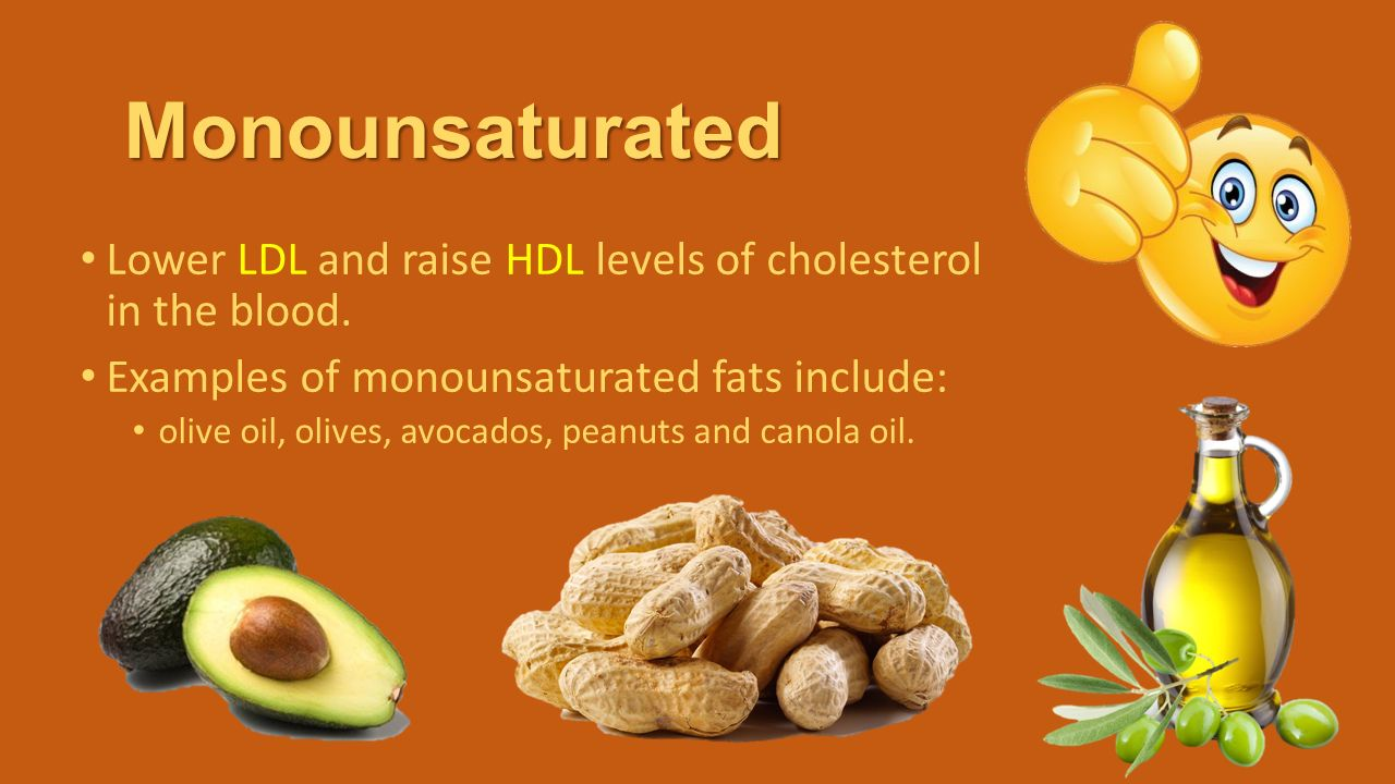 Examples Of Monounsaturated Fats Choice Image Example Cover Letter