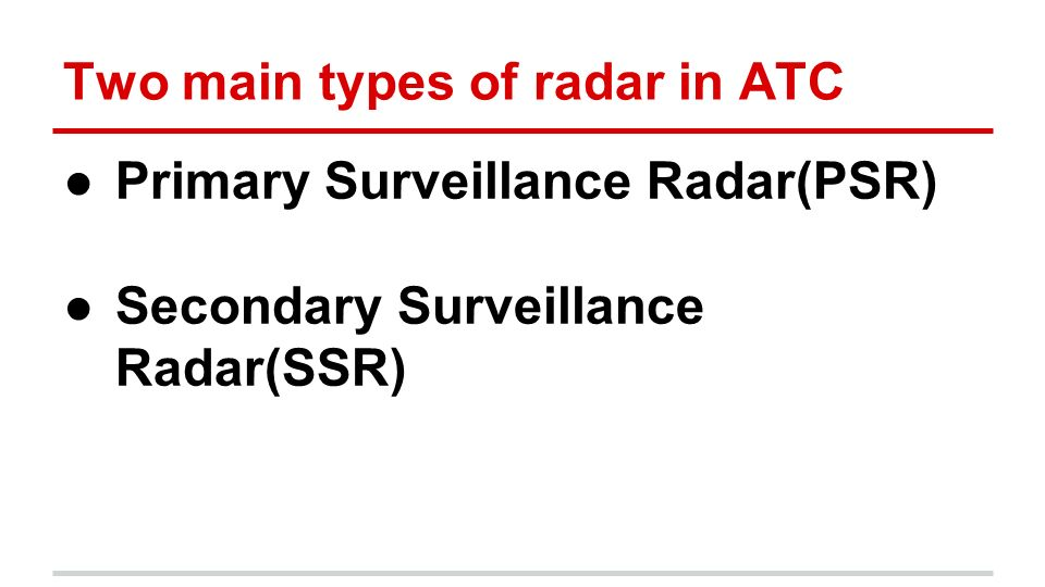 Air Traffic Control Radar - ppt video online download