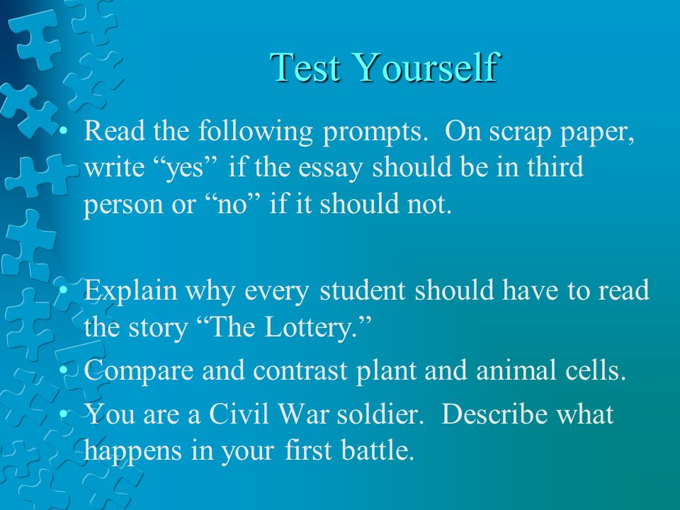 how to write a paper in third person about yourself