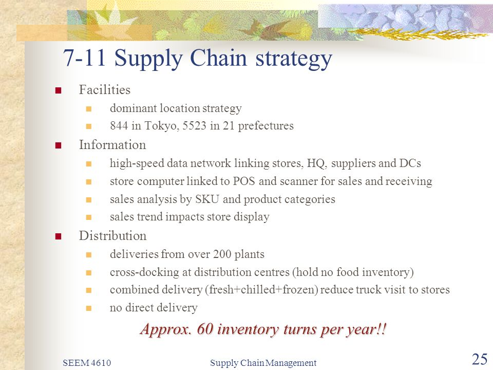 Seven eleven japan supply chain management