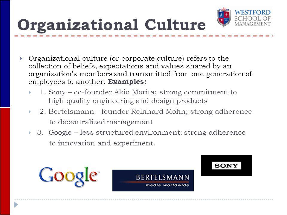 sony organizational culture