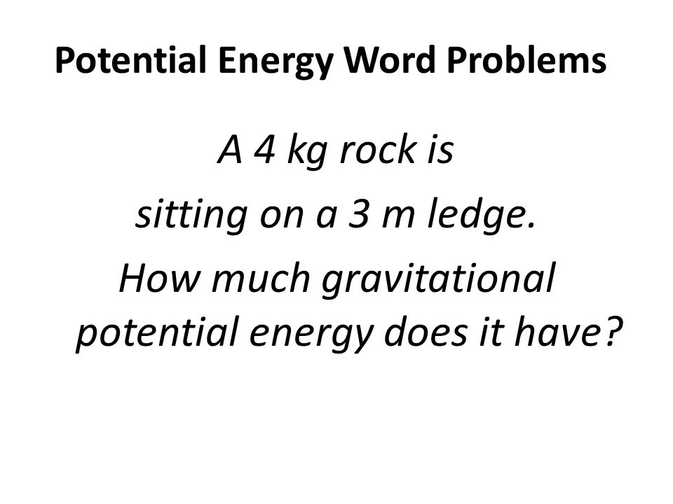 potential energy word problems