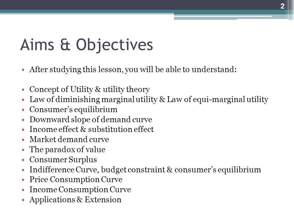 law of consumer equilibrium