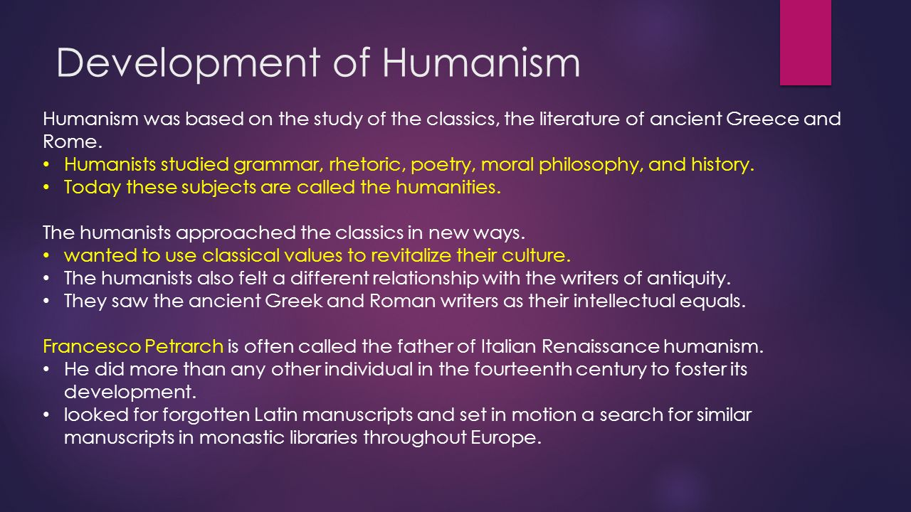 what impact did humanism have on art and culture