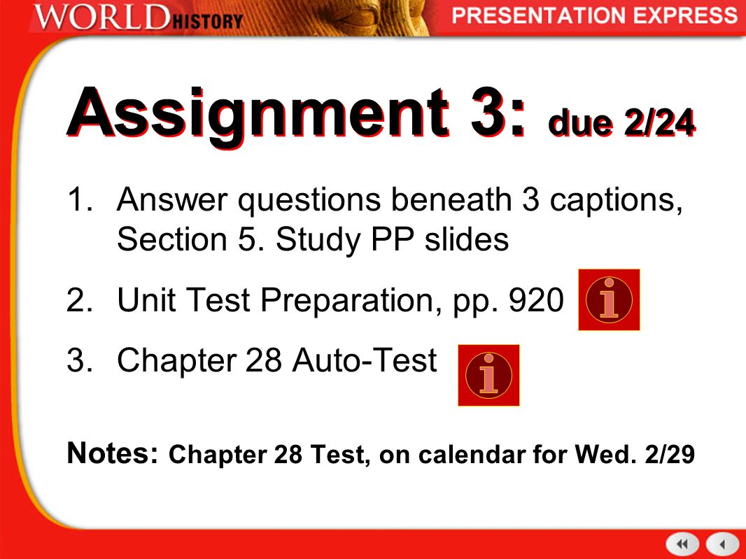 Assignment 3: due 2/24 Answer questions beneath 3 captions, Section 5.