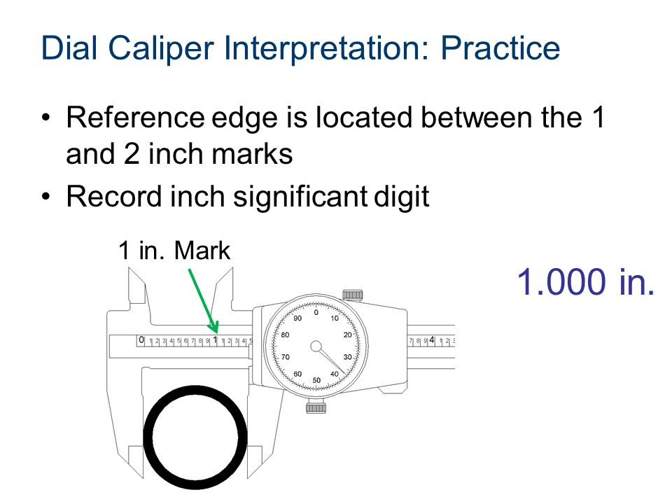 Dial Caliper Description and Use. - ppt video online download