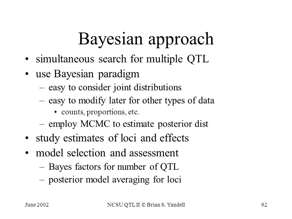 Brian S  Yandell University of Wisconsin-Madison - ppt download