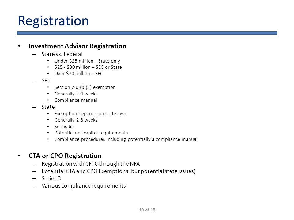 starting a hedge fund in ppt video online download rh slideplayer com investment advisor compliance manual sample investment adviser compliance manual