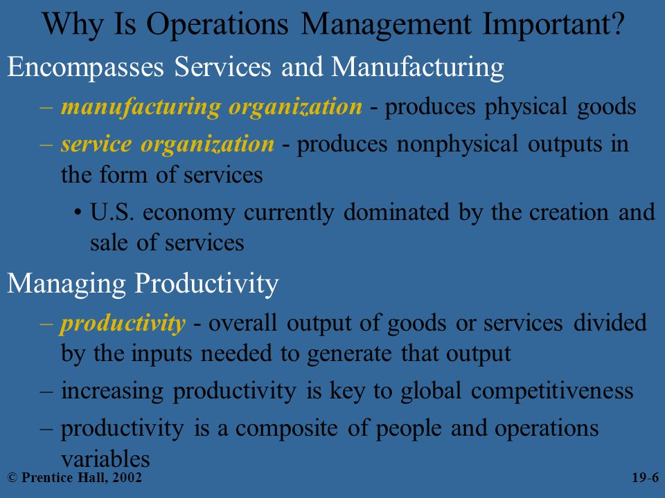 Chapter 19 Operations And Value Chain Management C Prentice Hall