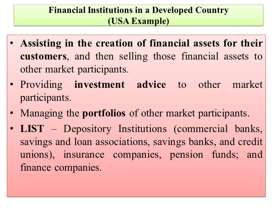 Financial Institutions And Financial Markets Ppt Download