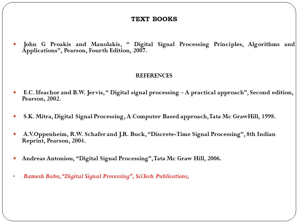 EC6502- PRICIPLES OF DIGITAL SIGNAL PROCESSING (PDSP) - ppt video