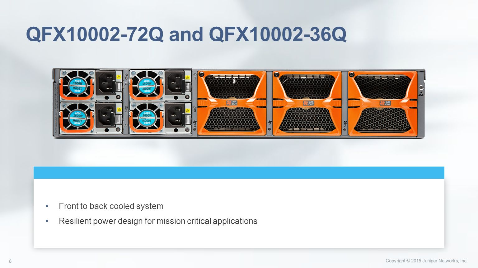 Next Generation Spine & Core Data Center Switches - ppt