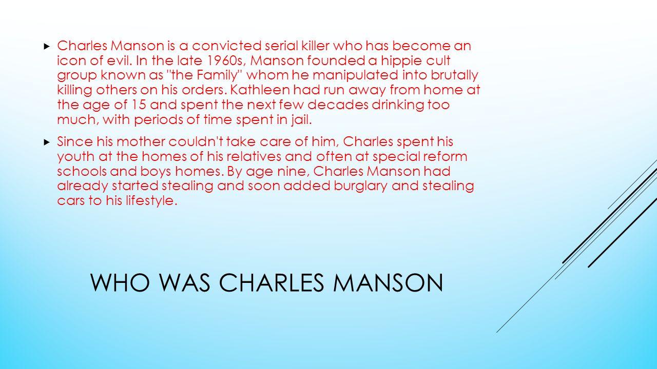 CHARLES MANSON  - ppt video online download