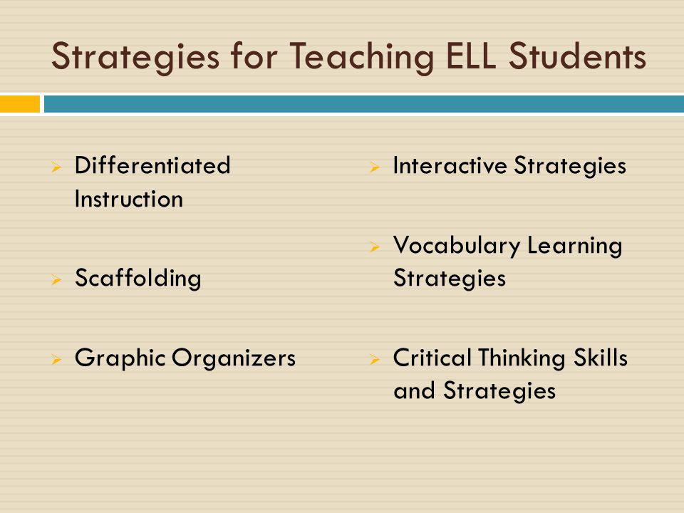 How To Teach English Language Learners Tips And Strategies Ppt