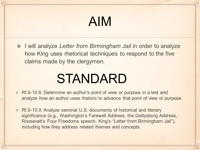 analysis letter from birmingham jail