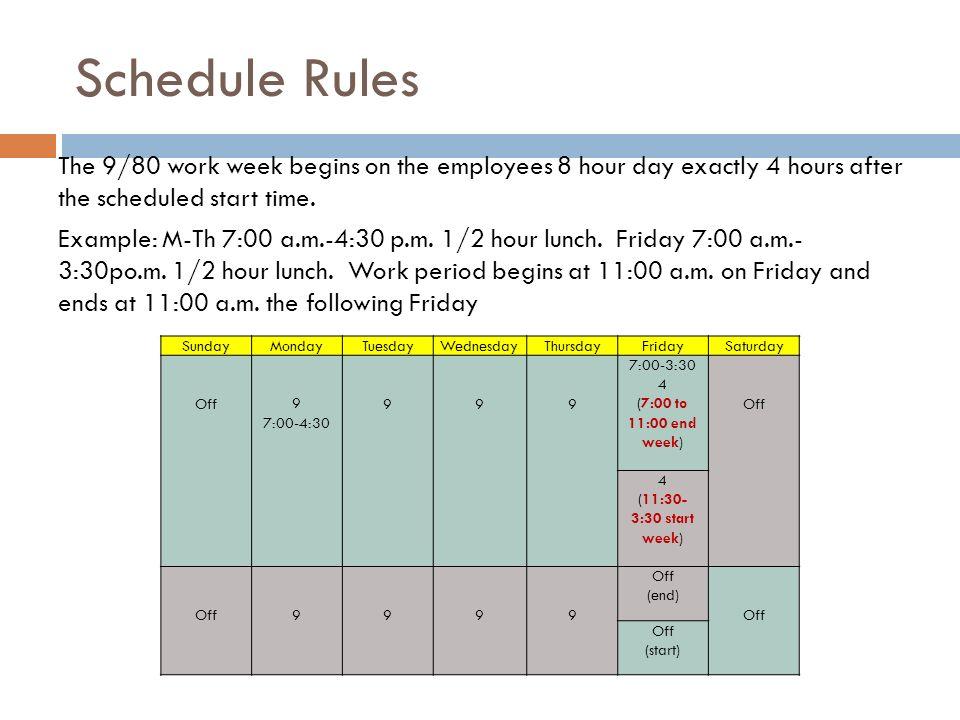 Alternative Work Schedule