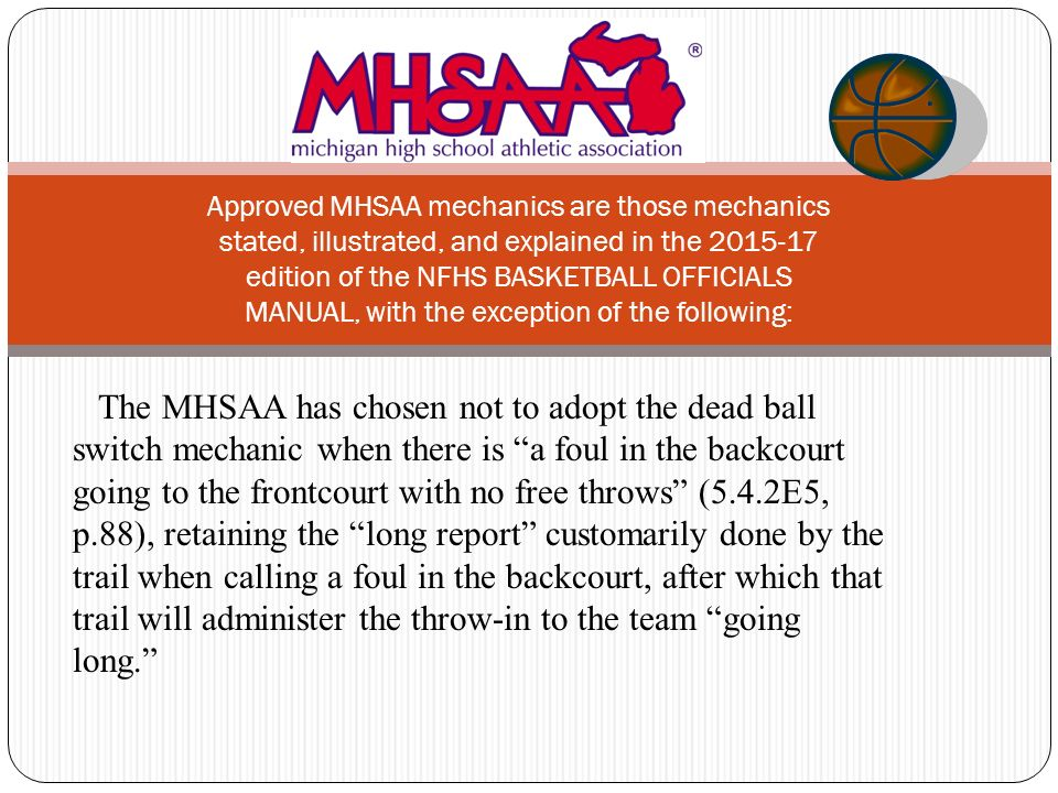 3 person basketball officiating mechanics ppt download rh slideplayer com nfhs basketball officials manual pdf NFHS Basketball Test Answers