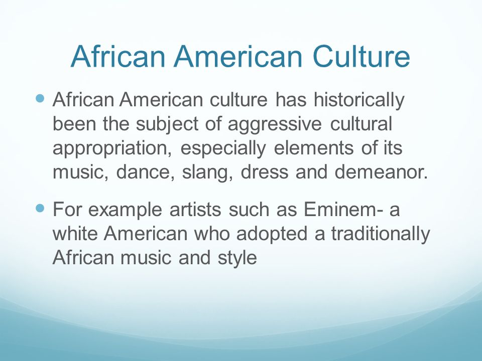 examples of african culture
