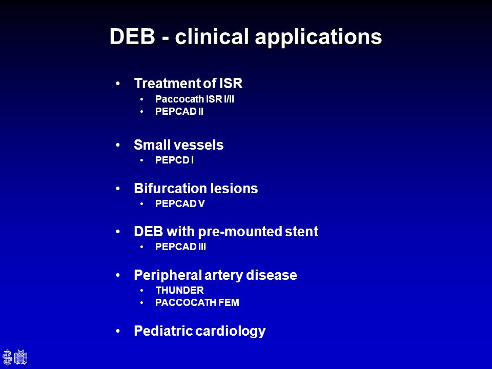 DEB - clinical applications