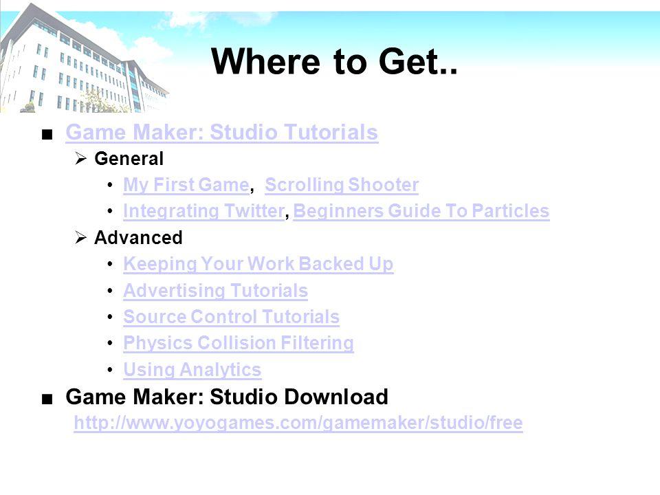 game maker studio 2 free tutorial