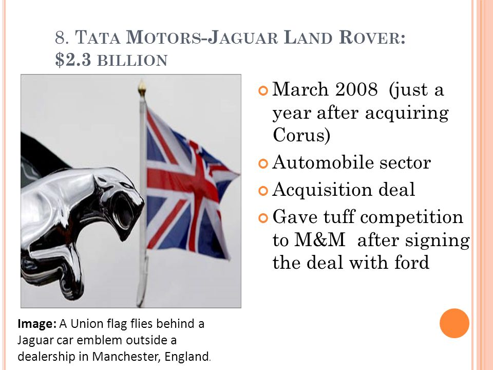 tata motors strategy behind jlr acquisition This paper aims to focus on tata motors, an automobile company from an emerging market, and its successful acquisition of two global marquee car brands in jaguar and land rover (jlr.