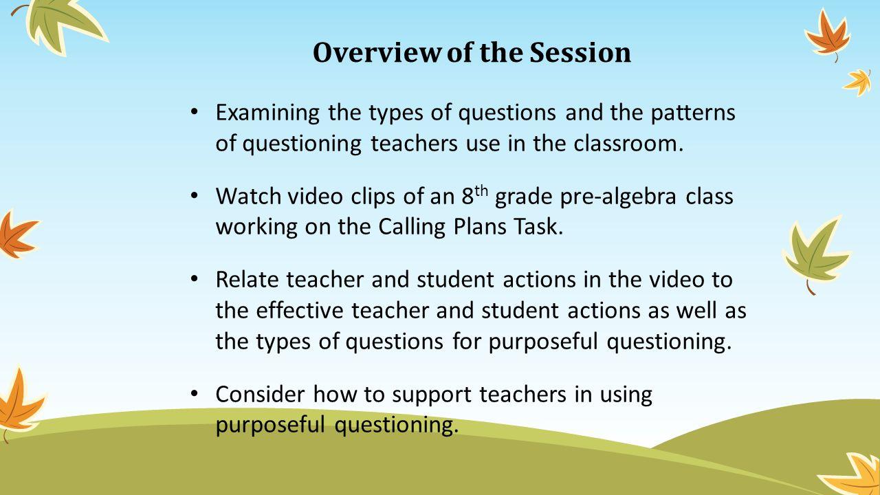 Purposeful Questioning 6-8 September 24, ppt video online download